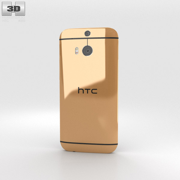 HTC One (M8) Amber Gold 3d model