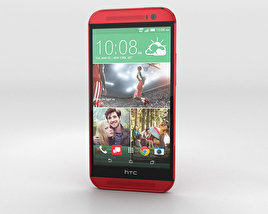 3D model of HTC One (M8) Glamor Red