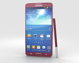 3D model of Samsung Galaxy Note 3 Neo Red