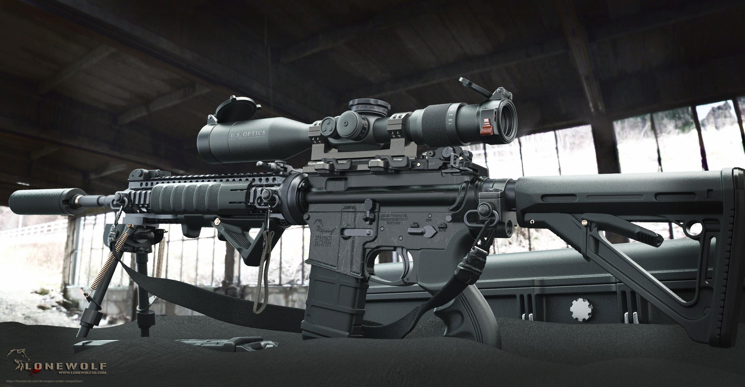 AR15 Sniper 3d art