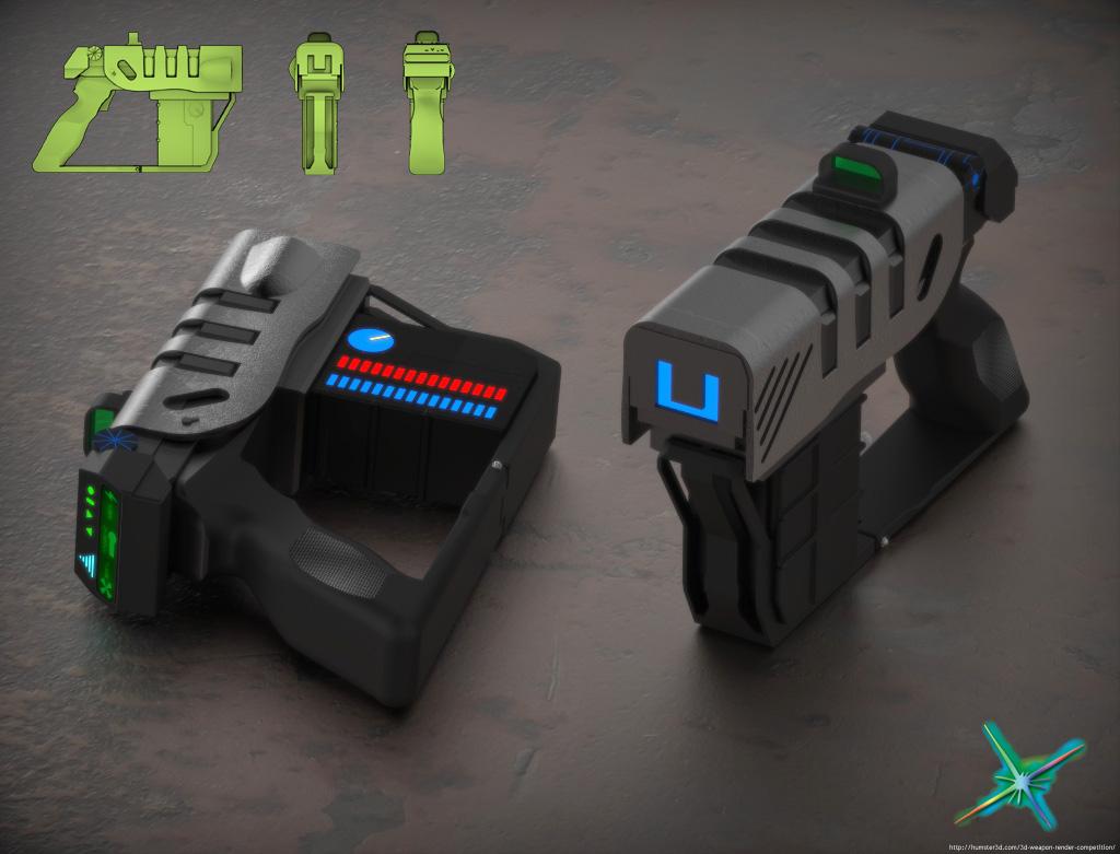 Laser Pistol 3d art