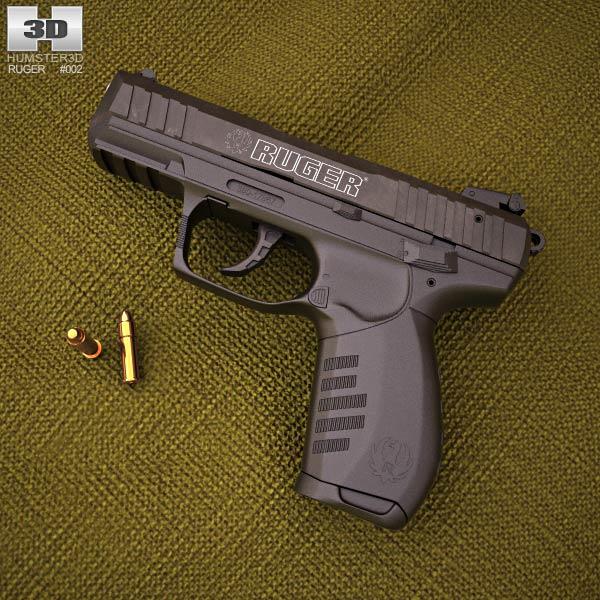 Ruger SR22 3D模型