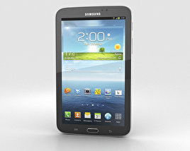 3D model of Samsung Galaxy Tab 3 7-inch Black