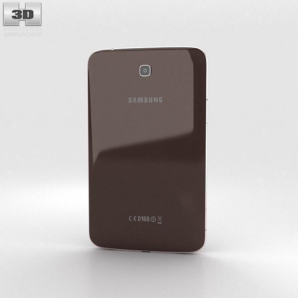 Samsung Galaxy Tab 3 7-inch Gold Brown 3d model