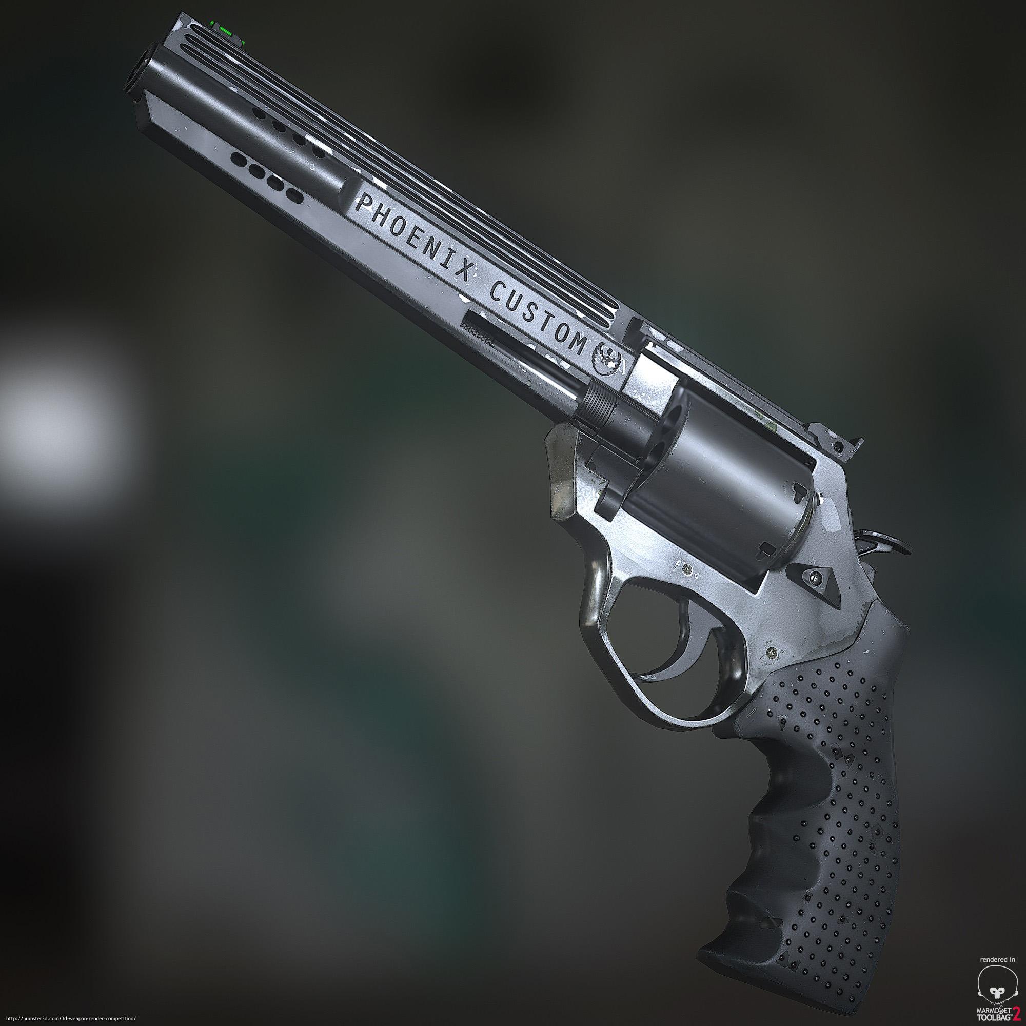 Phoenix Custom Revolver 3d art