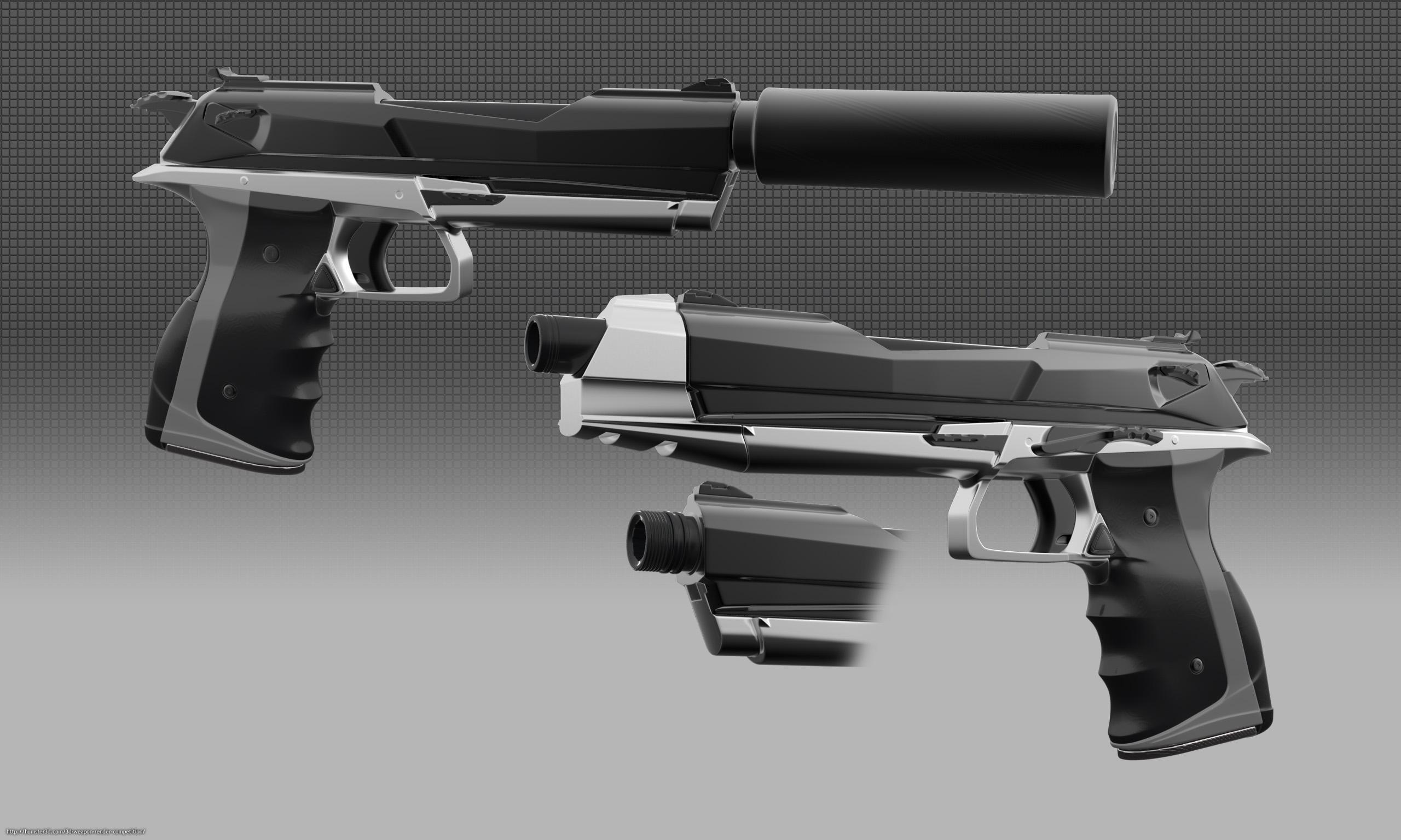Rand's Signature Pistol 3d art