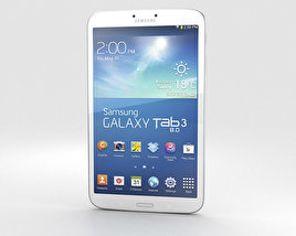 3D model of Samsung Galaxy Tab 3 8-inch White