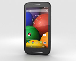 3D model of Motorola Moto E Black