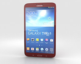 3D model of Samsung Galaxy Tab 3 8-inch Red