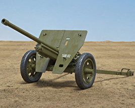 3D model of Type 1 47 mm Anti-Tank Gun
