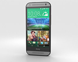 3D model of HTC One Mini 2 Gunmetal Gray