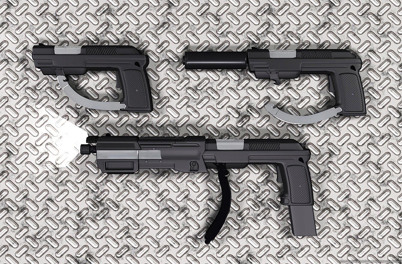 M3K4-DK1 Hand Gun 3d art