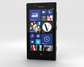3D model of Nokia Lumia 720 Black