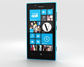 3D model of Nokia Lumia 720 Cyan
