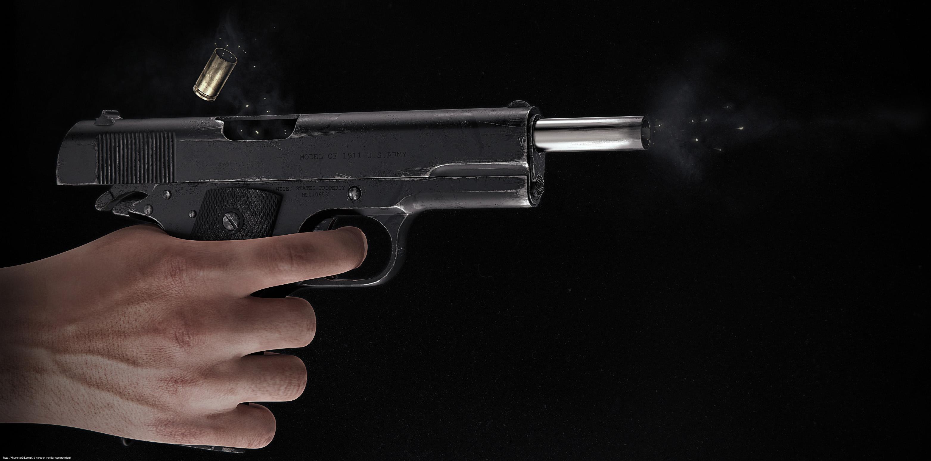 Colt 1911 3d art