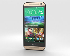 3D model of HTC One Mini 2 Amber Gold