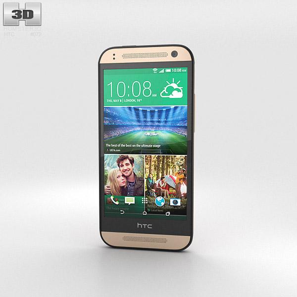 HTC One Mini 2 Amber Gold 3D model