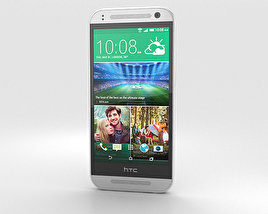3D model of HTC One Mini 2 Glacial Silver