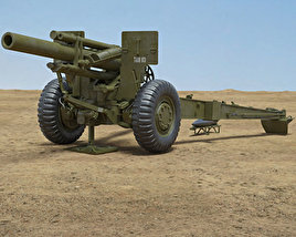 3D model of M114 155 mm Howitzer
