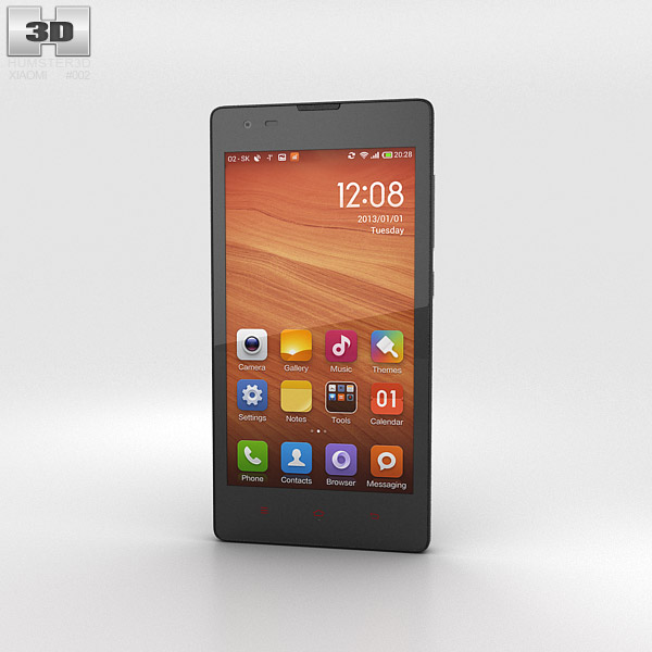 3D model of Xiaomi Hongmi Black