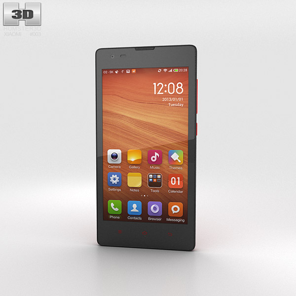 3D model of Xiaomi Hongmi Red