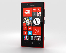3D model of Nokia Lumia 720 Red
