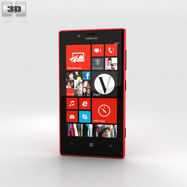 Nokia Lumia 720 Red 3D model