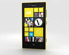 3D model of Nokia Lumia 720 Yellow