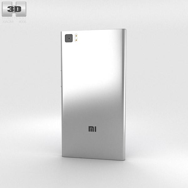 Xiaomi MI-3 Silver 3d model