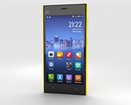 3D model of Xiaomi MI-3 Yellow
