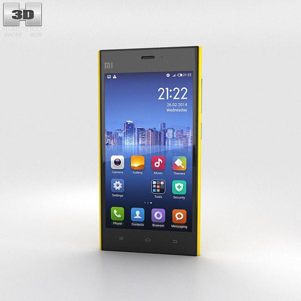 Xiaomi MI-3 Yellow 3D model
