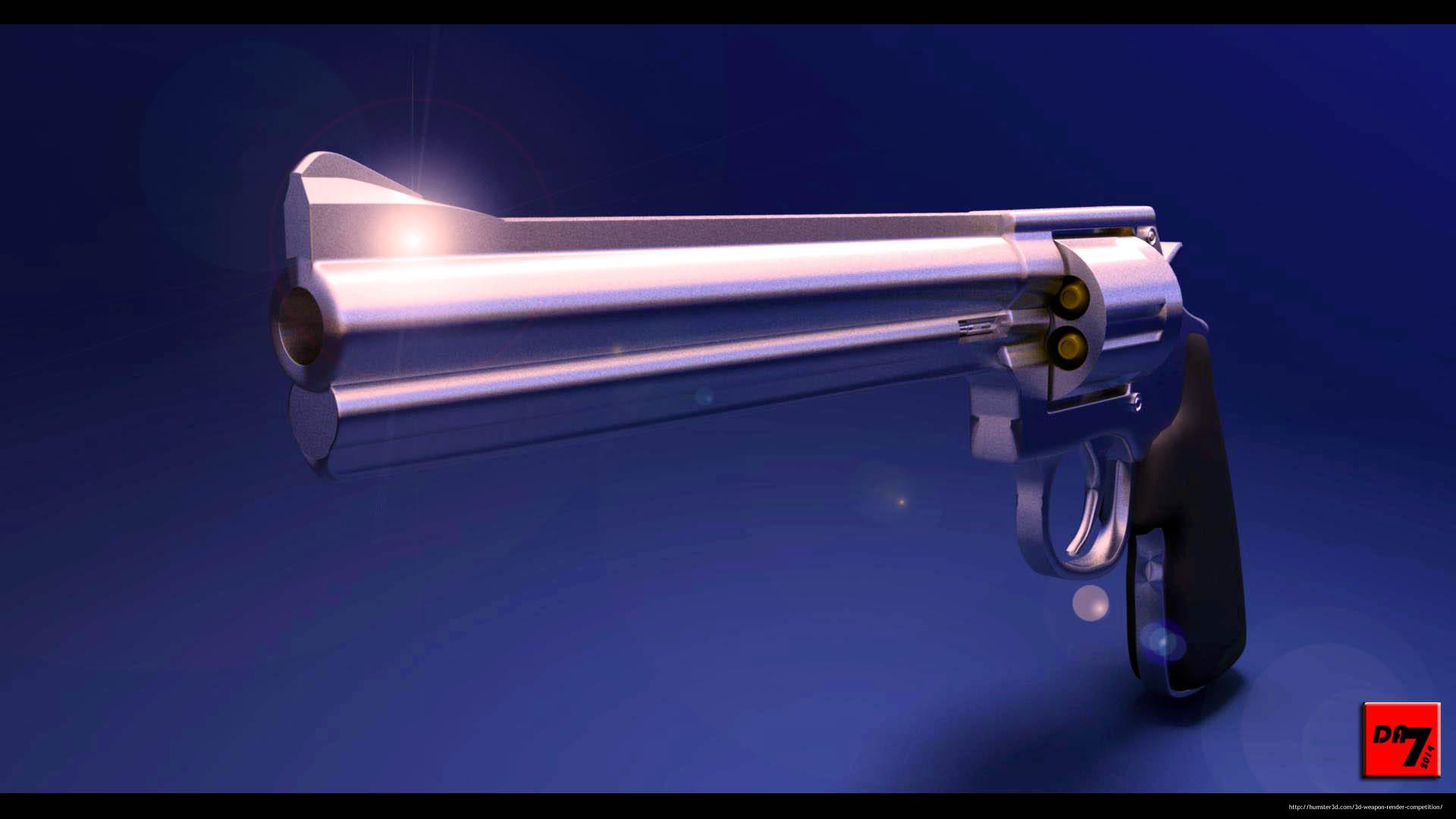 357 Magnum 3d art