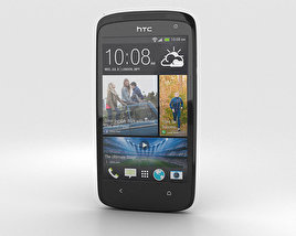 3D model of HTC Desire 500 Lacquer Black