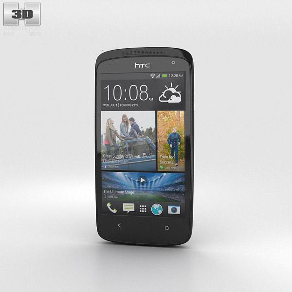 HTC Desire 500 Lacquer Black 3D model