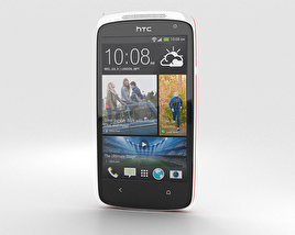 3D model of HTC Desire 500 Passion Red