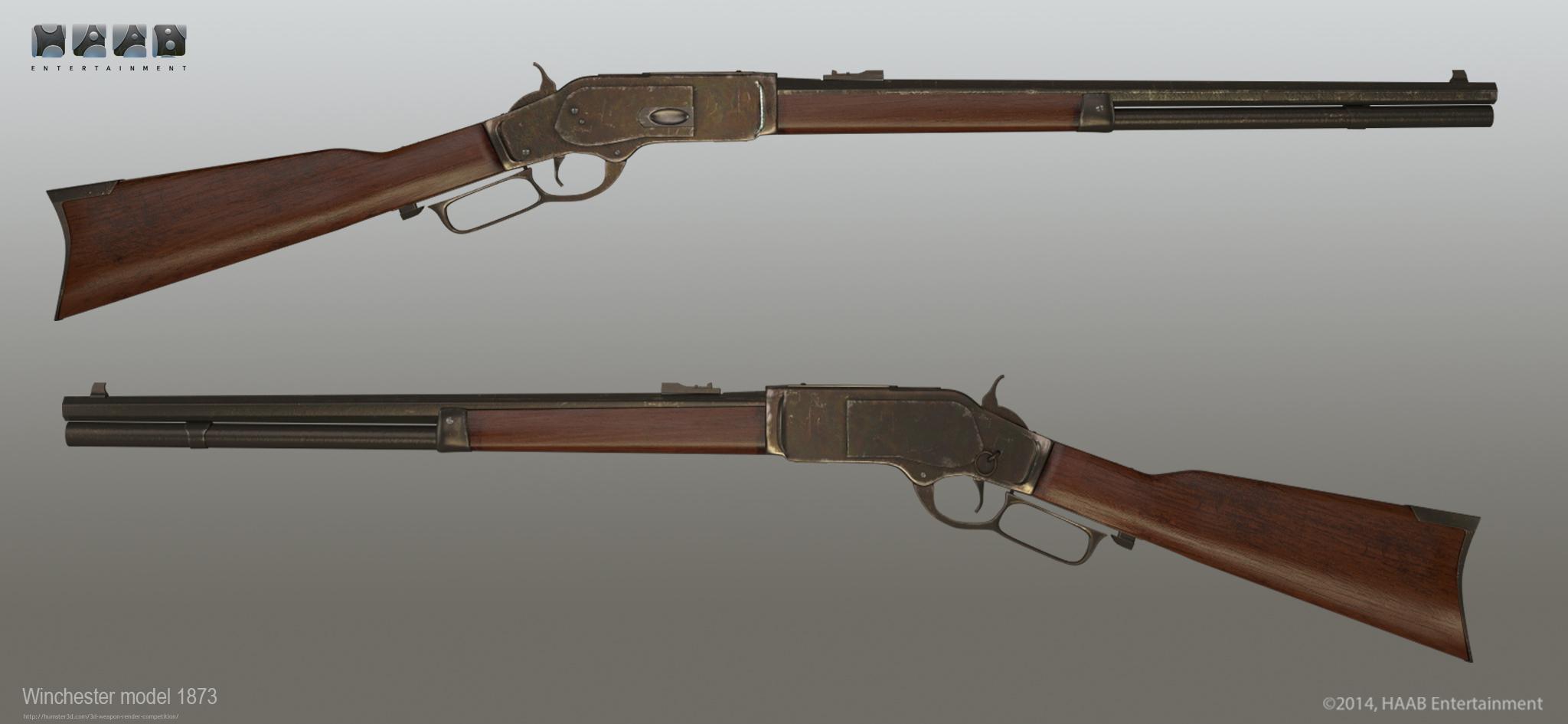 Winchester model 1873 3d art