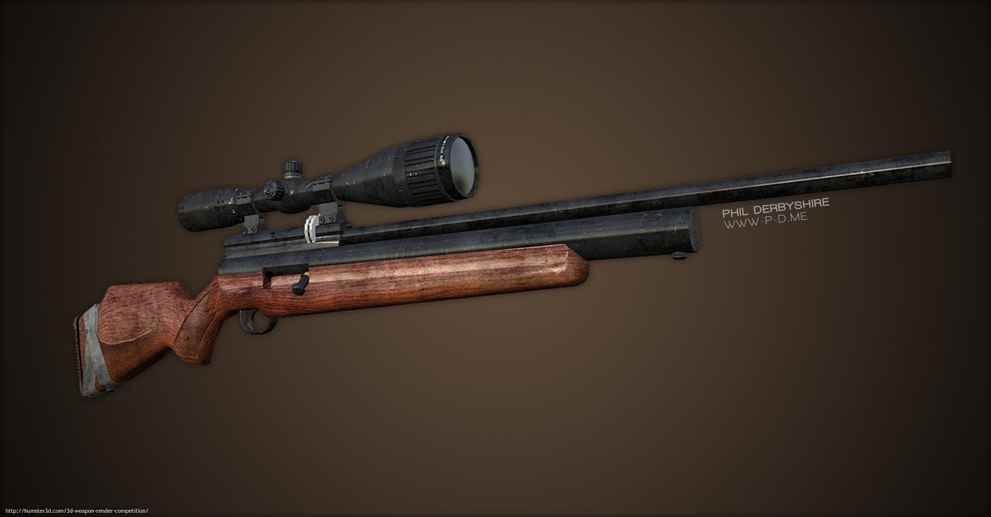 A1D PCP Rifle 3d art