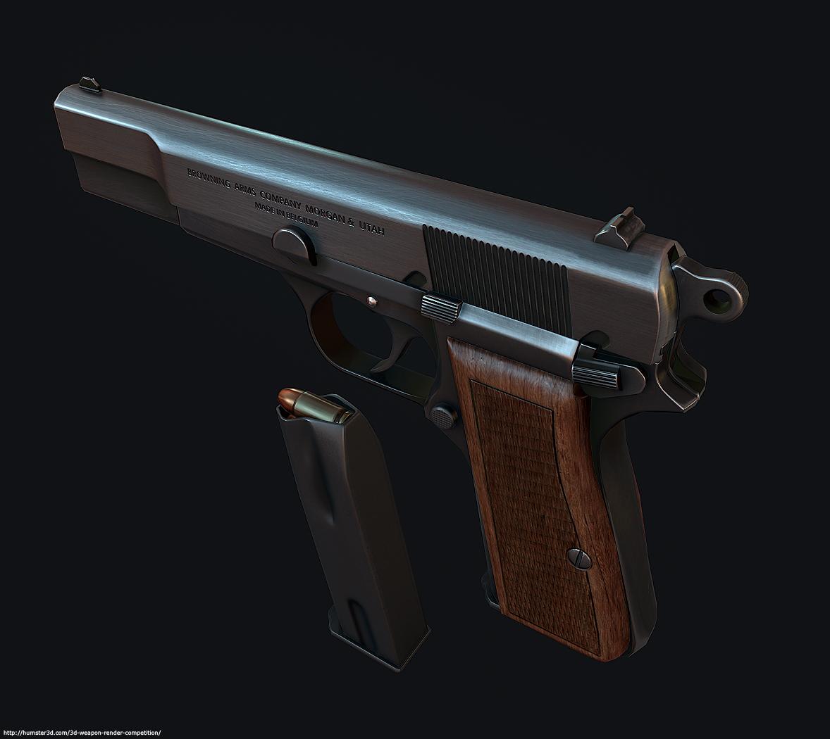 Browning HP 3d art
