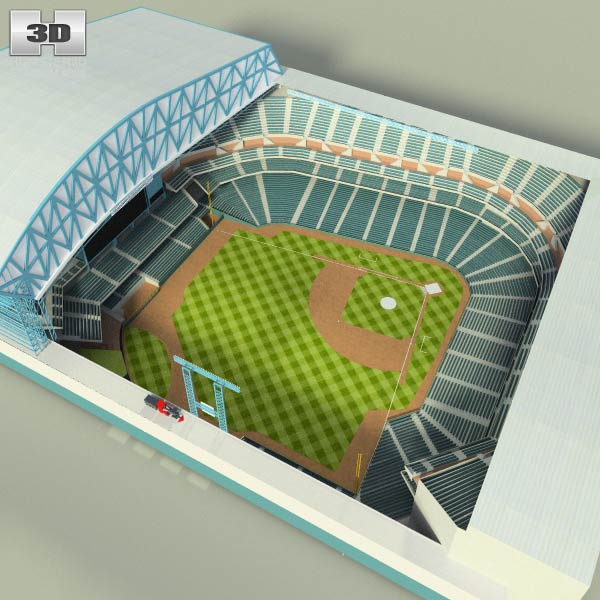 3D model of Houston Astros Minute Maid Park Baseball Stadium