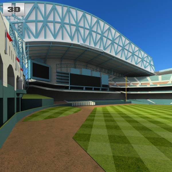 Houston Astros Minute Maid Park Baseball Stadium 3d model