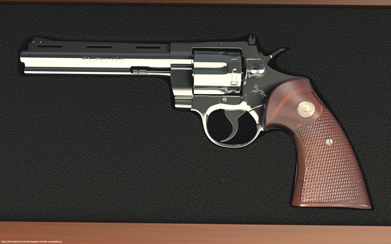Colt python 357 3d art