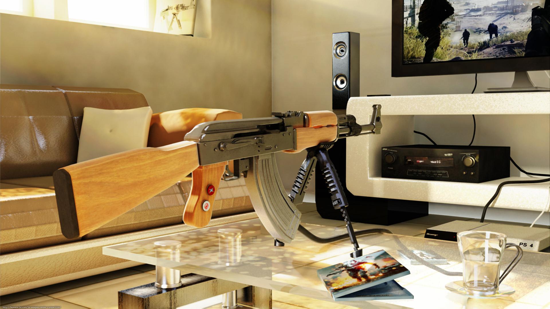 The Playstation Gun 3d art