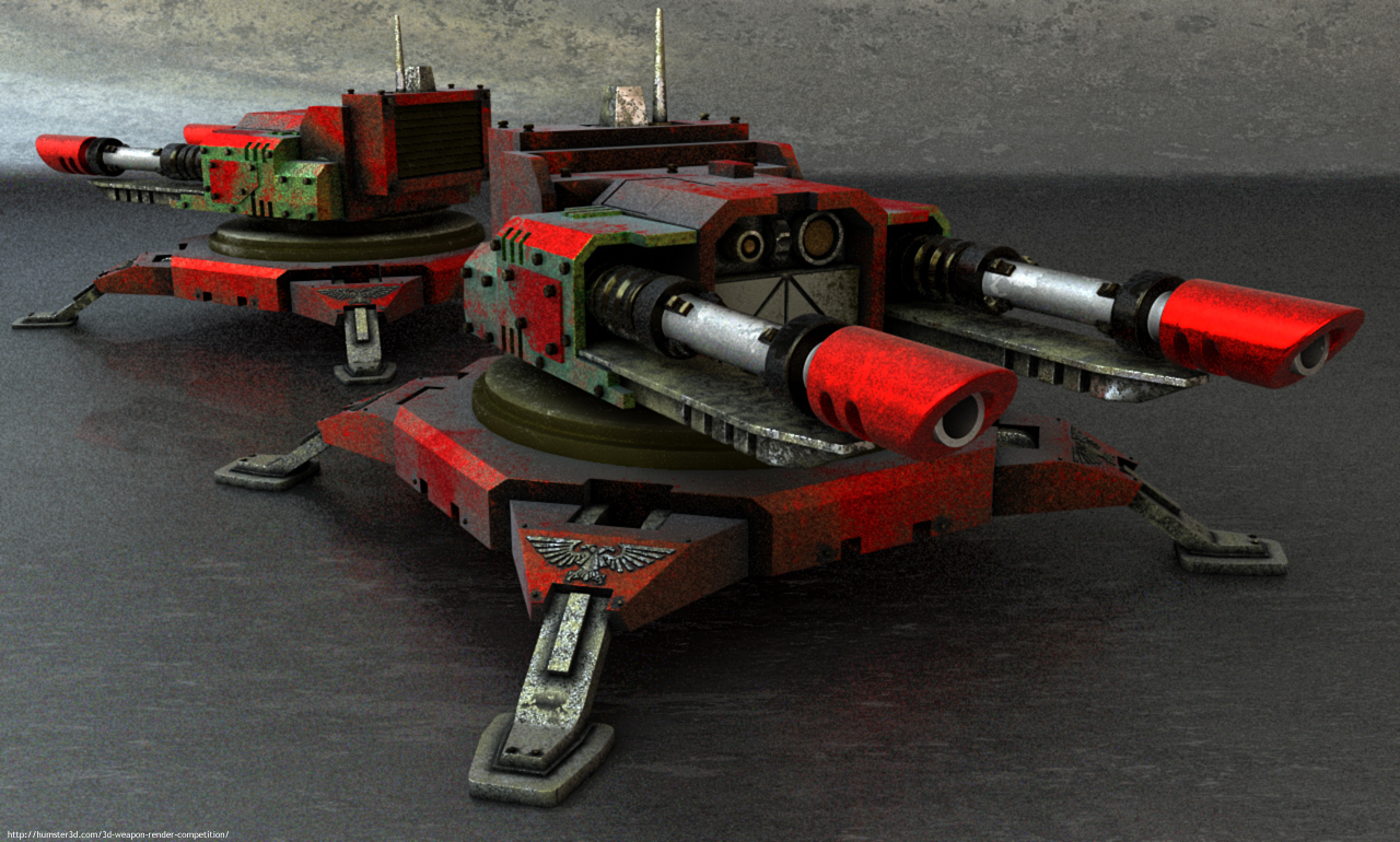 Warhammer sentry guns 3d art