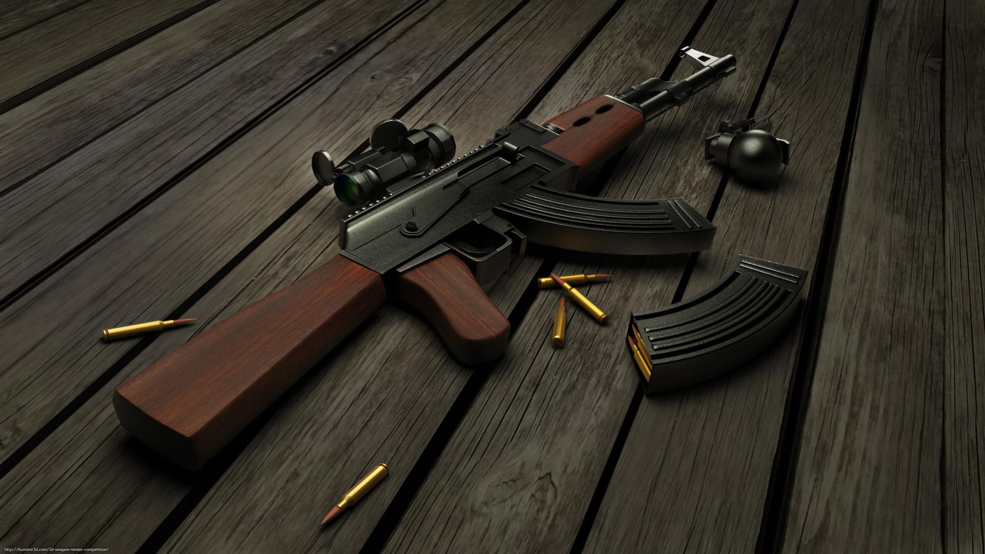 AK47 3d art