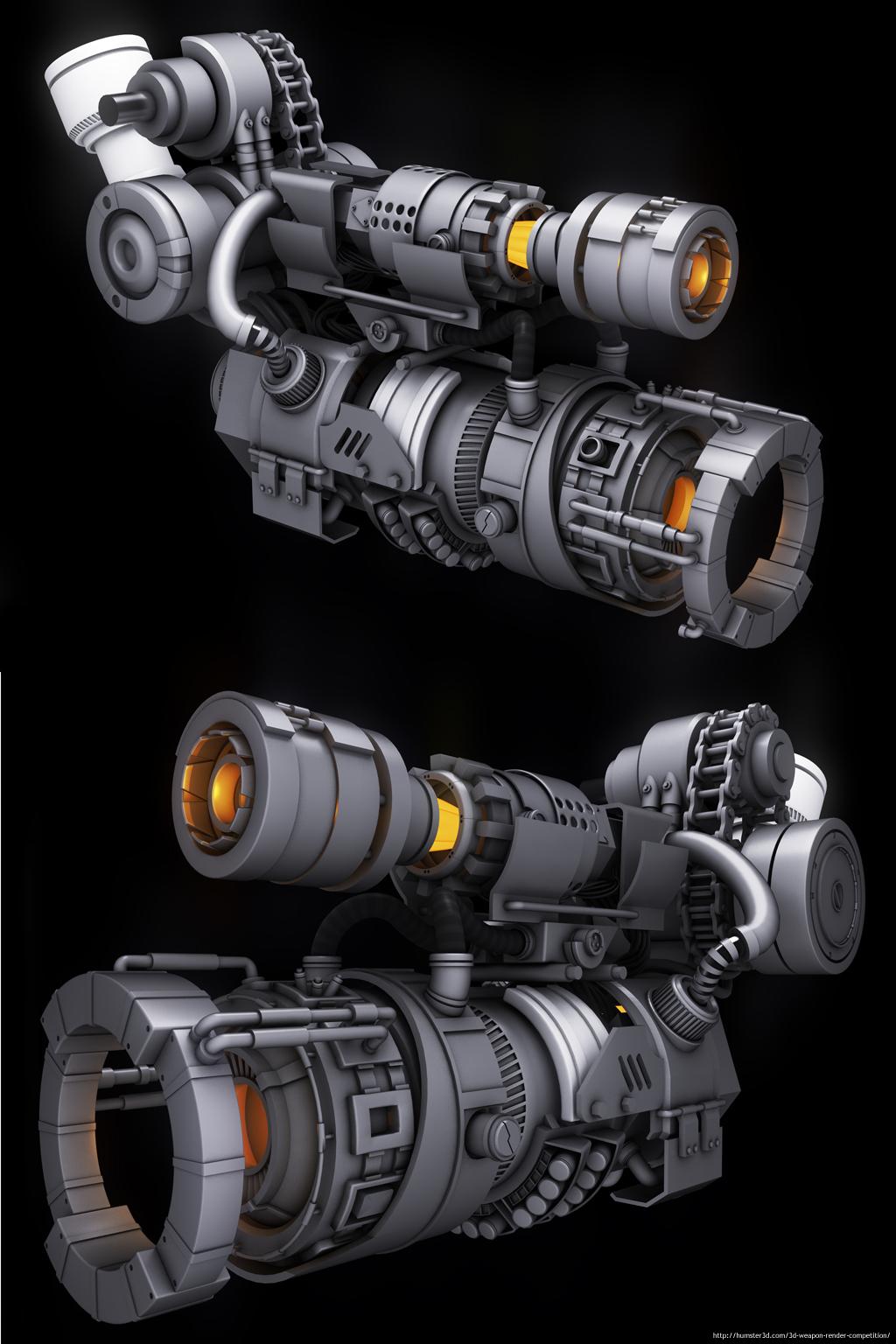 Arm Prosthetic Cannon 3d art
