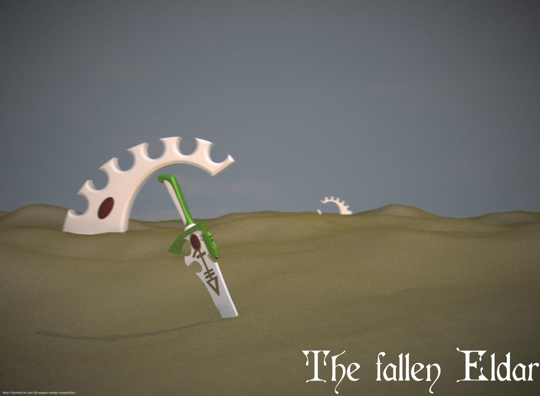 The fallen Eldar 3d art