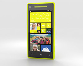 3D model of HTC Windows Phone 8X Limelight Yellow