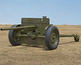 3D model of 37 mm Gun M3
