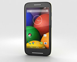 3D model of Motorola Moto E Lemon Lime & Black