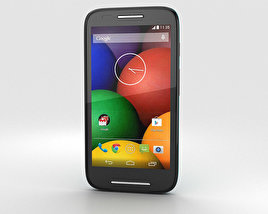 3D model of Motorola Moto E Turquoise & Black